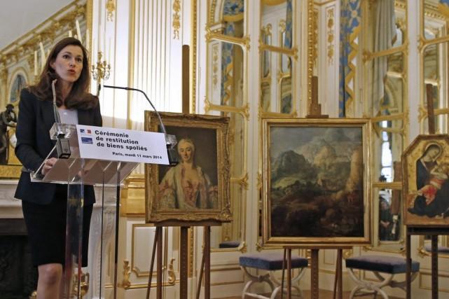 La ministre française de la Culture Aurélie Filippettiexplique... (Photo Archives Reuters)