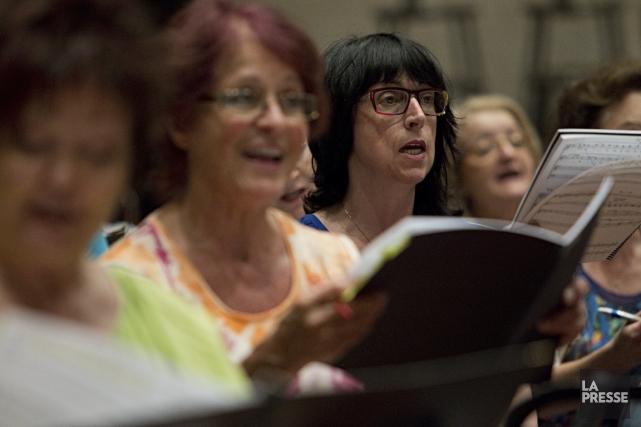 Un total 1500 choristes en provenance de 42... (PHOTO ALAIN DÉCARIE, LA PRESSE)
