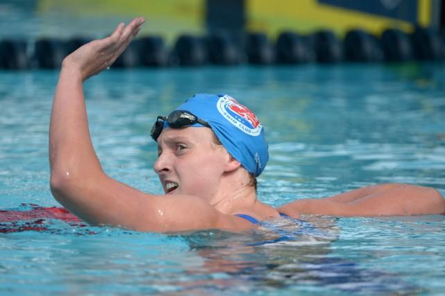 L'Américaine Katie Ledecky... (Photo Kirby Lee, USA Today Sports)