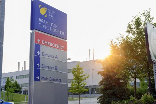 Le patient admis à l'hôpital de Bramptonsouffrait de... (PHOTO VICTOR BIRO, PC)