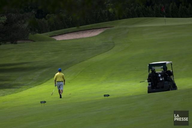 L'achalandage baisse sur les terrains de golf du... (PHOTO IVANOH DEMERS, ARCHIVES LA PRESSE)