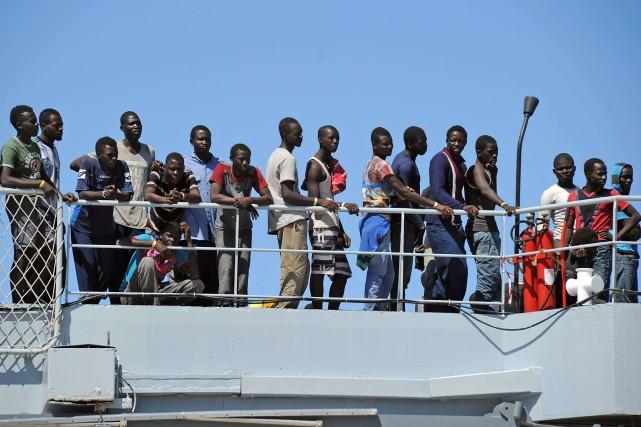 L'opération Mare Nostrum a été déclenchée en octobre... (Photo GIOVANNI ISOLINO, AFP)