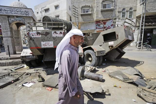 «Aux premiers jours de la guerre, l'Autorité palestinienne... (Photo Lefteris Pitarakis, AP)