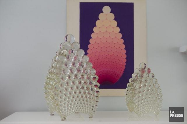 La Noosphère, dessin de Zanis Waldheims, sculpture d'Yves... (Photo: Olivier Jean, archives La Presse)