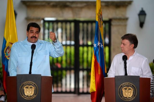 Le président du Venezuela Nicolas Maduro et son... (Photo Eitan Abramovich, archives Agence France-Presse)