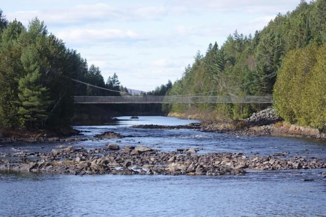 La rivière Ouareau.... (Photo fournie par le Centre local de développement de la Matawinie)