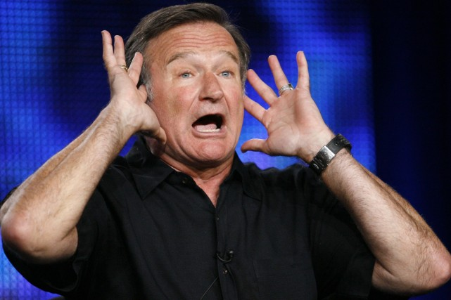 Robin Williams gesticule à sa manière particulière au... (Photo: archives Reuters)
