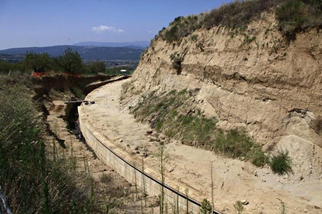 Vue du site où les archéologues ont découvert... (Photo Alexandros Michailidis, AP)