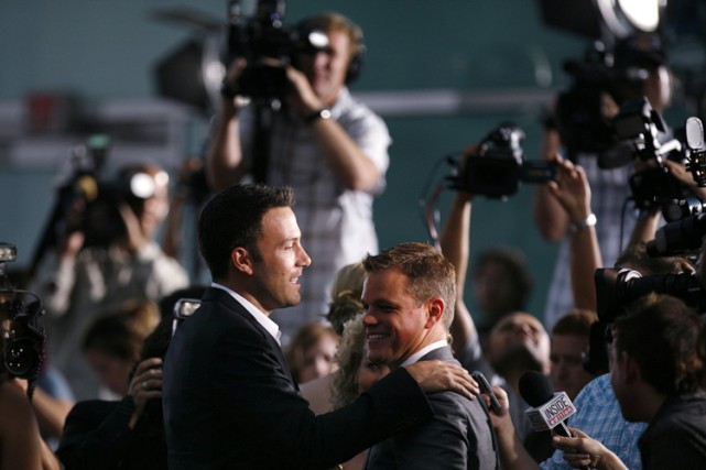 Ben Affleck et Matt Damon ont remporté en... (Photo: Reuters)