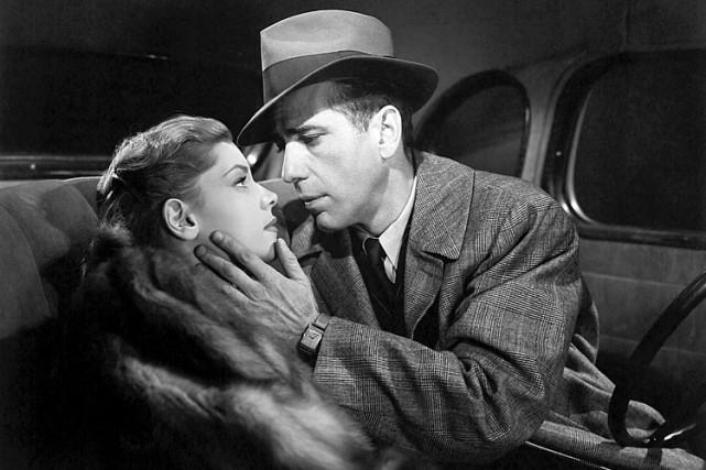 Lauren Bacall et Humphrey Bogart dans lefilm noir... (Warner Bros.)