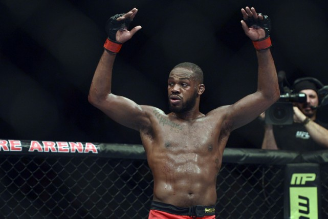 Jon Jones en avril dernier.... (Photo: Reuters)