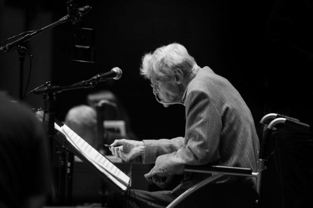 Frans Brüggen en mai dernier.... (Photo: Annelies van der Vegt, fournie par L'Orchestre du XVIIIe siècle)