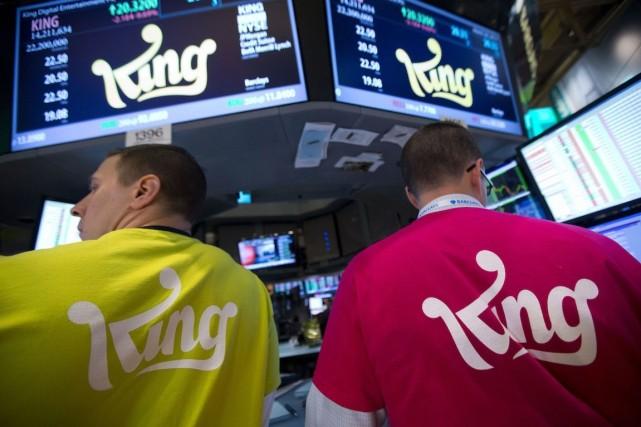L'action King plongeait de 23,02% à 14,01 dollars... (Photo Jin Lee, Archives Bloomberg)