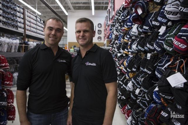 Allan Chown et Jason Quinn, associés de la... (PHOTO MATHIEU WADDELL, LA PRESSE)