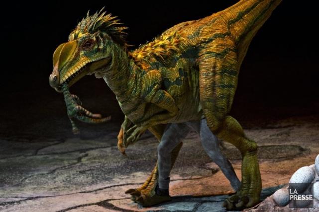 C'était le grand retour de La marche des dinosaures, hier soir à... (Photo: Olivier Jean, La Presse)
