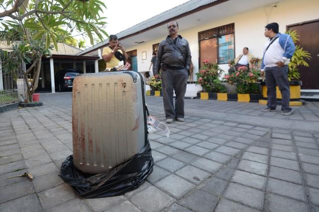 Selon des images de vidéosurveillance de l'hôtel, le... (Photo SONNY TUMBELAKA, AFP)