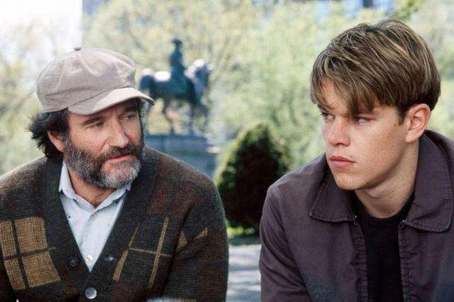Robin Williams et Matt Damon dans Le destin... (Photo: fournie par Télé-Québec)