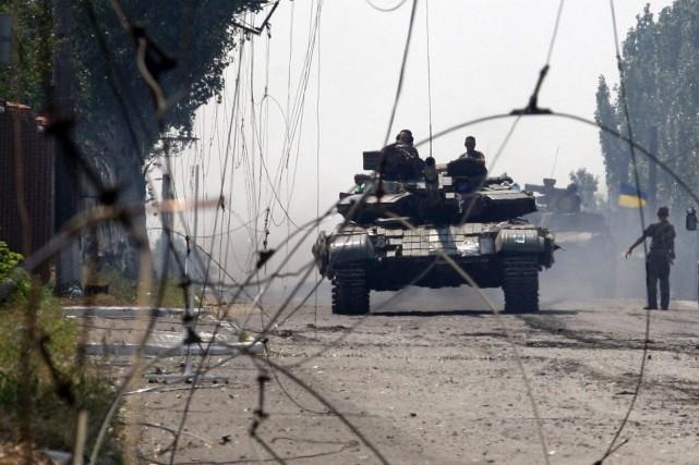 L'armée ukrainienne a repris jeudi le contrôle de... (Photo ANATOLII STEPANOV, AFP)