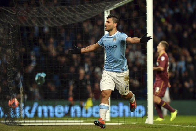 Sergio Agüero... (Photo Paul Ellis, archives AFP)