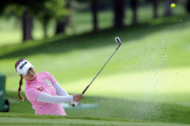 Meena Lee au 17e trou.... (Photo Mark Konezny, USA TODAY Sports)
