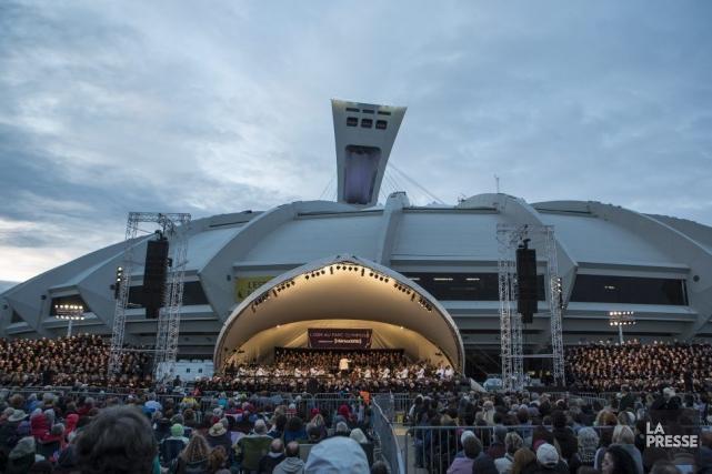 Le spectacle d'hier était le troisième concert de... (PHOTO OLIVIER PONTBRIAND, LA PRESSE)