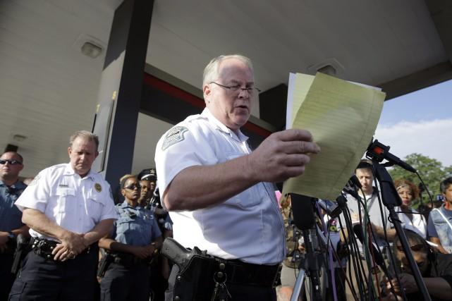 Le chef de police de Ferguson,Thomas Jackson, a... (PHOTO JEFF ROBERSON, AP)
