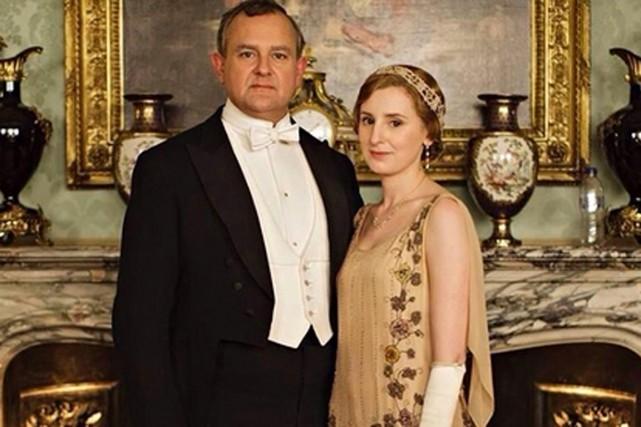 La photo promotionnelle deDownton Abbeypubliée jeudi a enflammé la... (PHOTO TIRÉE DE TWITTER)