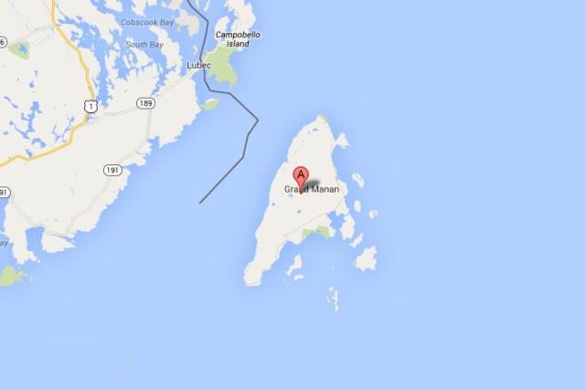 L'avion retournait sur l'île après avoir transporté un... (Photo tirée de Google Maps)