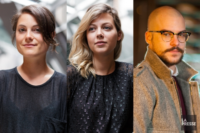 Julianne Côté,Catherine Saint-Laurent etMarc-André Grondin.... (PHOTOMONTAGE LA PRESSE)