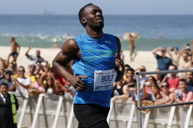 Il s'agissait du premier 100m de Bolt cette... (PHOTO SERGIO MORAES, REUTERS)