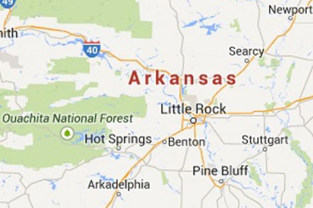 Deux personnes sont mortes et deux autres ont été blessées dans l'Arkansas... (Image tirée de Google Maps)