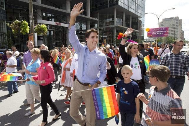 Justin Trudeau a participé au défilé de la... (Photo Robert Skinner, archives La Presse)