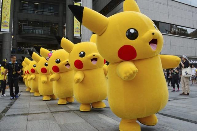 Le personnage Pikachu du jeuPokemon.... (PHOTO YOSHIKAZU TSUNO, ARCHIVES AFP)