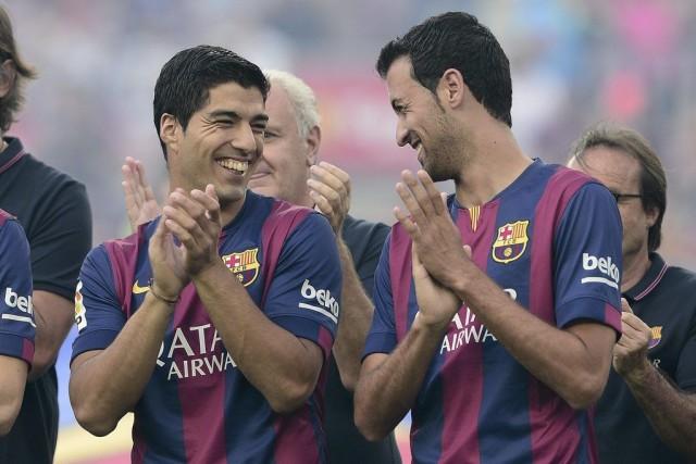 L'attaquant uruguayen Luis Suarez, interdit de compétition jusqu'à octobre pour... (PHOTO JOSEP LAGO, AFP)