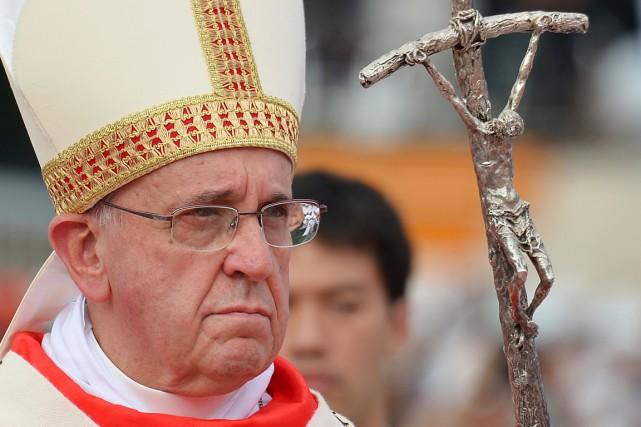 Le pape François, à Séoul, en Corée du... (PHOTO VINCENZO PINTO, ARCHIVES AFP)