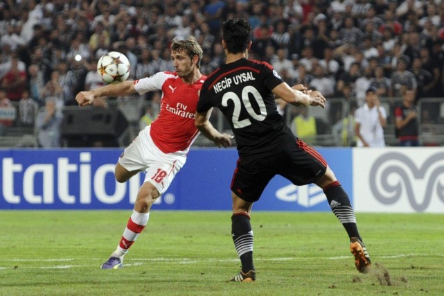 Arsenal, tenu en échec mardi soir à Istanbul face au Besiktas (0-0), en match... (Photo: AFP)