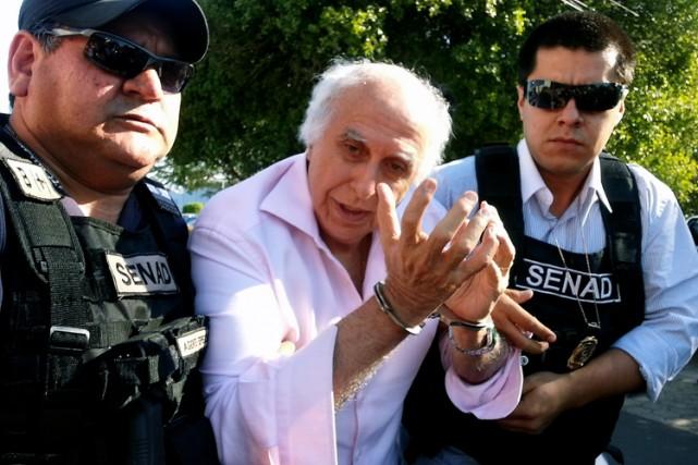 Roger Abdelmassih lors de son arrestation àAsunción, mardi.... (Photo: AFP)