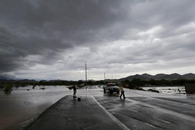 La région désertique de Phoenix en Arizona, au sud-ouest des États-Unis, a fait... (Photo: AFP)