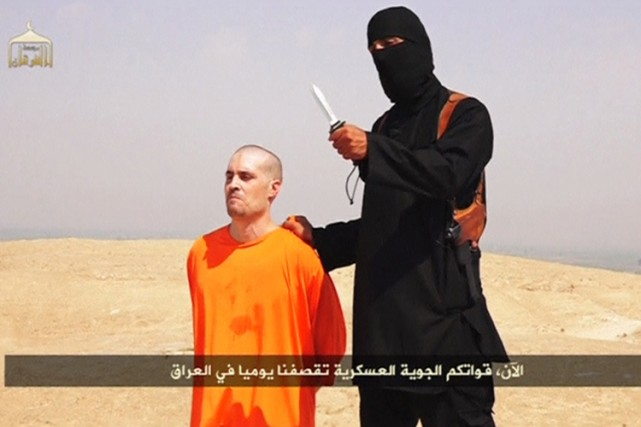 James Foley était vêtu d'une tenue orange, qui... (Photo: Reuters)