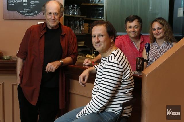 Gabriel Arcand, Paul Ahmarani, Marc Béland et Kim... (Photo: Martin Chamberland, La Presse)