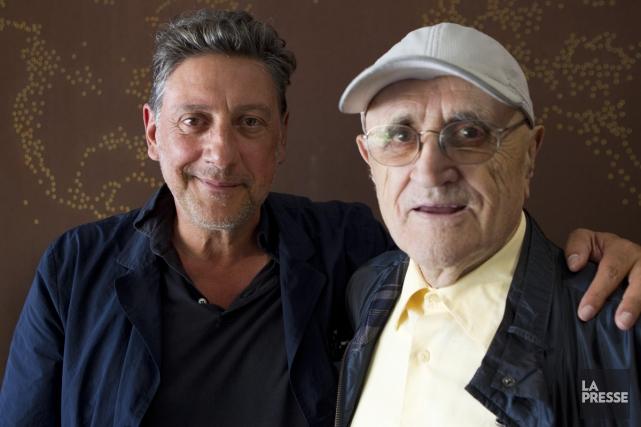 Serge Losique (à droite) a accueilli hier le... (Photo: Olivier Jean, La Presse)