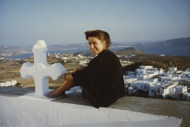 Marie-Claude Lortie en grèce, en 1990.... (Photo fournie par Marie-Claude Lortie)