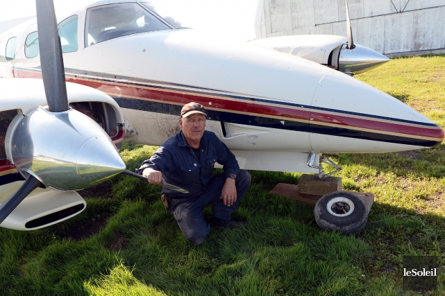 Le propriétaire de l'aérodrome de Pintendre Jacques Bernier... (Photothèque Le Soleil, Erick Labbé)