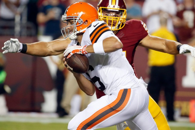 Brian Hoyer... (Photo Alex Brandon, AP)