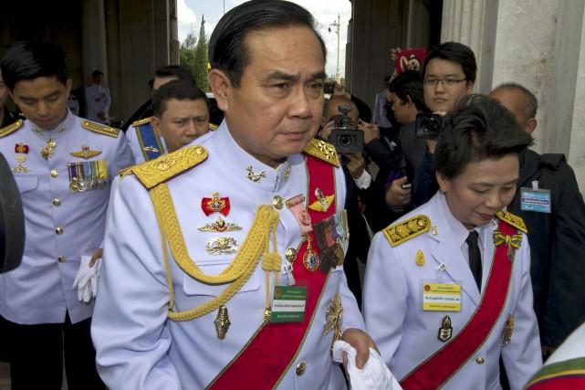 Le général Prayut Chan-O-Chasera vraisemblablement l'unique candidat des... (PHOTO PORNCHAI KITTIWONGSAKUL, archives AFP)