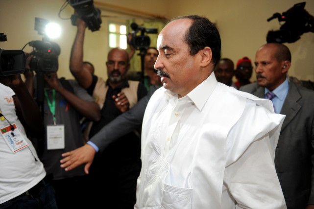Le président mauritanien Mohamed Ould Abdel Aziz a... (Photo archives AFP)