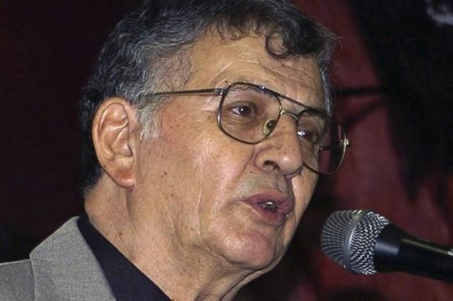 Samih al-Qassem en septembre 2008.... (Photo: archives AFP)