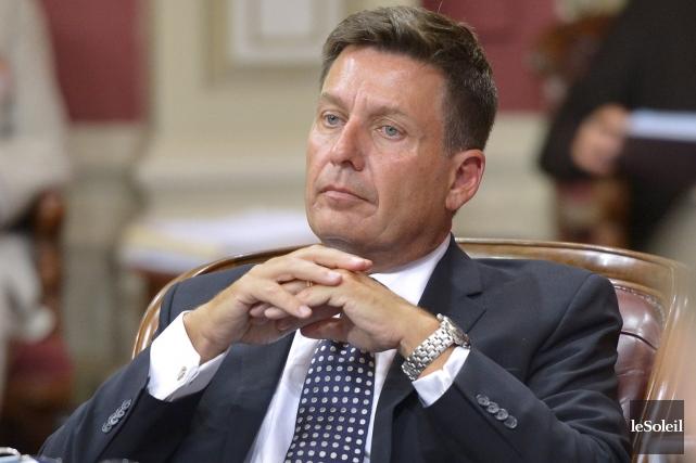 Le ministre des Affaires municipales, Pierre Moreau... (PHOTO YAN DOUBLET, ARCHIVES LE SOLEIL)