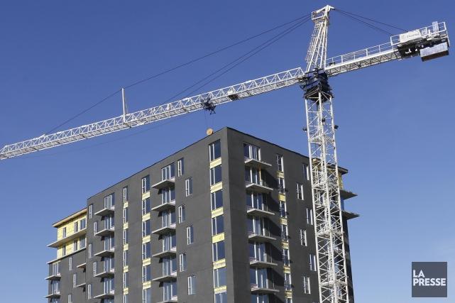 La construction d'immeubles en copropriété, en particulier dans... (PHOTO ARCHIVES LA PRESSE)
