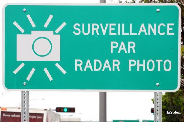 Les mots «surveillance par radar photo» sont appelés... (Photothèque Le Soleil, Erick Labbé)